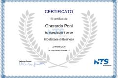 Certificazione  Il Database di Business