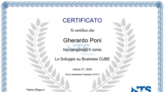 Certificazione Lo Sviluppo di Cube