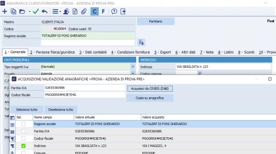 #PilloleDiCube – Modifica delle anagrafiche clienti e fornitori tramite CRIBIS