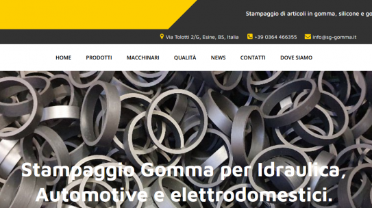 Restyling sito SG Gomma